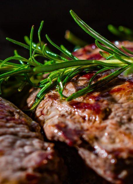 Menü mit Steak